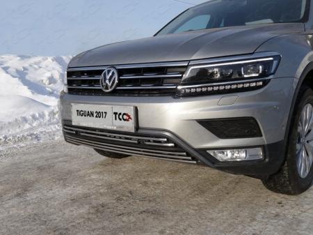 "Volkswagen Tiguan 2017- Решетка радиатора верхняя 16 мм (Пакет ""Offroad"")"