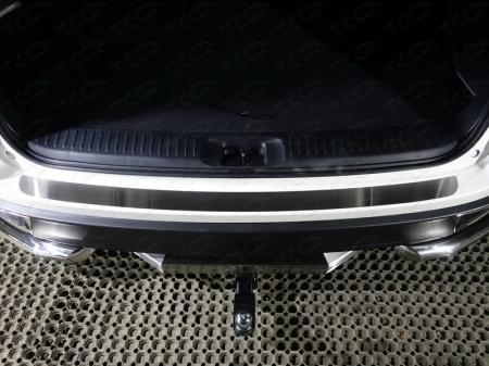 Toyota Highlander 2017-Накладка на задний бампер (лист шлифованный)