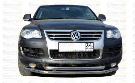 Защита переднего бампера d60/60 Volkswagen Touareg 2007-2010