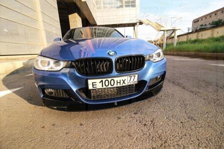 Сплиттер переднего М-бампера BMW 3-series (F30). Аналог М-Perfomance (OEM 51192291364)