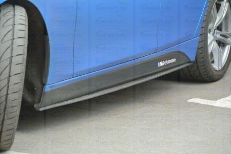 Накладки на пороги BMW 3-series (F30) INMAX. Аналог накладок М-порогов (OEM 51778056579, OEM 51778056580) 2012-