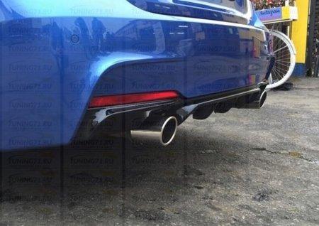 Диффузор заднего бампера BMW 3-series (F30). Аналог М-Perfomance 335 2012- н.в.