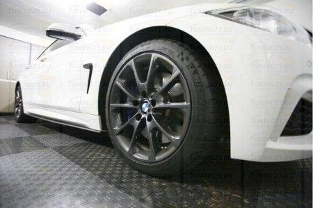 Накладки на пороги BMW 4-series (F32) 2013-