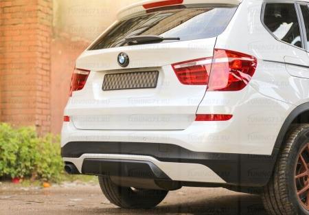 Диффузор (накладка на задний бампер) BMW X3 (F25) 2014-