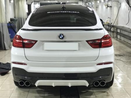 Накладка на задний М-бампер (диффузор) BMW Х4 (F26) 2014- . Аналог AC Schnitzer