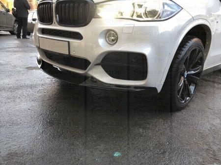 Сплиттер переднего бампера BMW X5 (F15) 2014-н.в. . Аналог M-Performance
