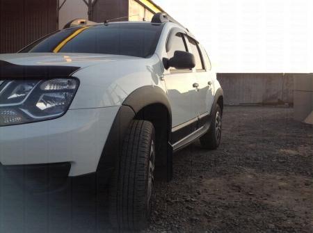 ( Накладки на арки колес ) Расширители арок Renault Duster 2015-  шагрень