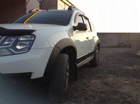 ( Накладки на арки колес ) Расширители арок Renault Duster 2010-2014  шагрень