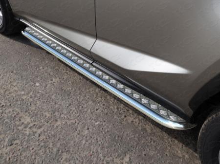 Lexus NX 200 2017-Пороги с площадкой 42,4 мм