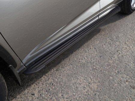 "Lexus NX 200 2017-Пороги алюминиевые ""Slim Line Black"" 1720 мм"