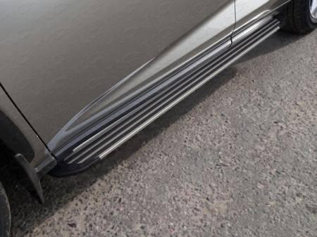 "Lexus NX 200 2017-Пороги алюминиевые ""Slim Line Silver"" 1720 мм"