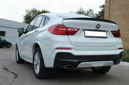 BMW x4 F26 2014-  Лип спойлер