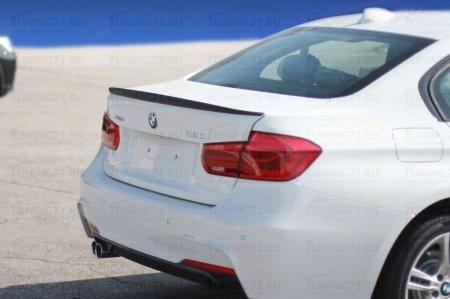 BMW 3 F30 2012- Лип спойлер MOVERY без выреза
