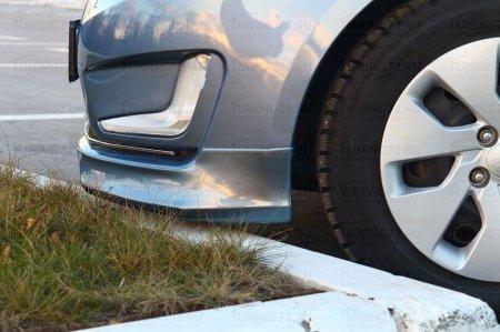 Kia Rio 3 2011-2015 до рестайлинг Клыки переднего бампера