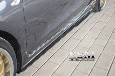 Kia Ceed 2 2012-Сплиттеры под пороги до брызговика