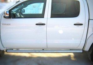 Toyota Hilux пороги труба d 76  (вариант 2) TLT-0000072