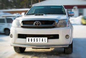 Toyota Hilux Защита переднего бампера d63 (дуга) TLZ-000001