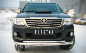 Toyota Hilux Защита переднего бампера d76/42 (дуга) TLZ-000005