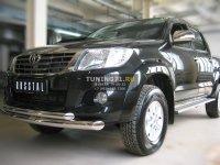 Toyota Hilux Защита переднего бампера d76/63 (дуга) TLZ-000006