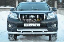 Toyota LC Prado 150 2009-2012 Защита переднего бампера d63(секции)d63(секции) декор дуга PNZ-001612