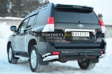 Toyota LC Prado 150 2009-2012 Защита заднего бампера уголки d76(секции) d42 (секции) PNZ-001619