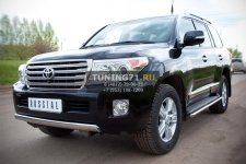 Toyota Land Cruiser 200. 2012- Защита переднего бампера 75х42 овал TLCZ-000512