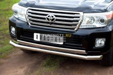 Toyota Land Cruiser 200. 2012- Защита переднего бампера 76/75х42 TLCZ-000514