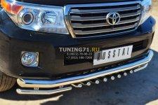 Toyota Land Cruiser 200. 2012- Защита переднего бампера d76 (секции) d42 (уголки)+зубы TLCZ-001641