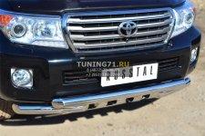 Toyota Land Cruiser 200. 2012- Защита переднего бампера d76 (дуга) d76х2 (дуга)+клыки TLCZ-001642