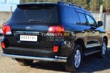Toyota Land Cruiser 200. 2012- Защита заднего бампера d76 (секции) d42 (уголки) TLCZ-001644