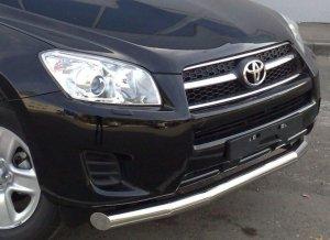 Toyota RAV 4 2009 - (обычная база) защита переднего бампера d 76 TRZ-000147