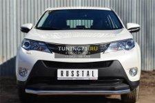 Toyota RAV 4 2013- Защита переднего бампера d63 (секции) TR4Z-001282