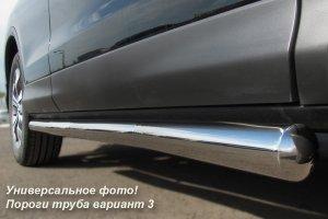 VolksWagen Amarok пороги труба d76 (вариант 3) VAT-0007953