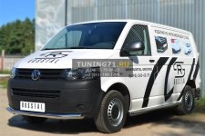 VOLKSWAGEN Transporter kasten T6  2010 Защита переднего бампера d63 (секции) VTKZ-001395