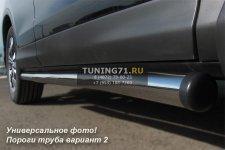 HONDA CR-V 2010 Пороги труба d76 (вариант 2) HNT-0002242