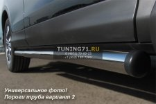 HONDA CR-V Пороги труба d76 (вариант 2) HCT-0001952