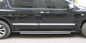 INFINITI QX 56 Пороги труба d42 по дверям (вариант 1) IQT-0003231