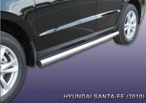 HYUNDAI SANTA-FE (2010)-Пороги d76 труба