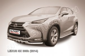 LEXUS NX 300h (2014)-Защита переднего бампера d57 с профильной ЗК