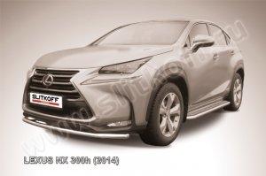 LEXUS NX 300h (2014)-Защита переднего бампера d57 радиусная