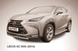 LEXUS NX 300h (2014)-Защита переднего бампера d57 короткая