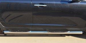 KIA SPORTAGE 2014- Пороги труба d76 с накладкой (вариант 2) KSGT-001674