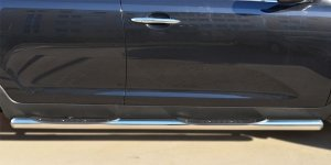 KIA SPORTAGE 2014- Пороги труба d76 с накладкой (вариант 3) KSGT-001675