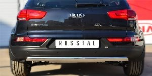 KIA SPORTAGE 2014- Защита заднего бампера 75х42 (дуга) KSGZ-001680