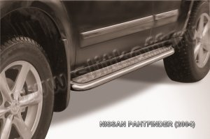 NISSAN PATHFINDER (2004)-Пороги d57 с листом