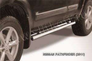 NISSAN PATHFINDER (2011)-Пороги d76 труба