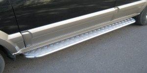 KIA Sorento  пороги труба 42 мм с листом KSL-000013