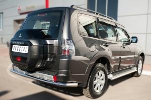 Mitsubishi Pajero 4 2014- Защита заднего бампера d63 (секции) MPZ-002050