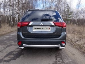 Mitsubishi Outlander 2015 Защита задняя (уголки) 60,3 мм