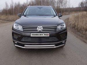 Volkswagen Touareg 2014 Защита передняя нижняя (двойная) 60,3/60,3 мм